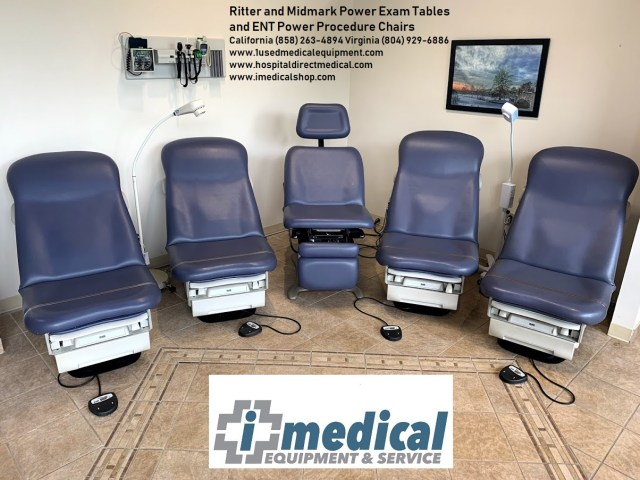 iMedical Ritter Midmark power exam tables ENT chairs