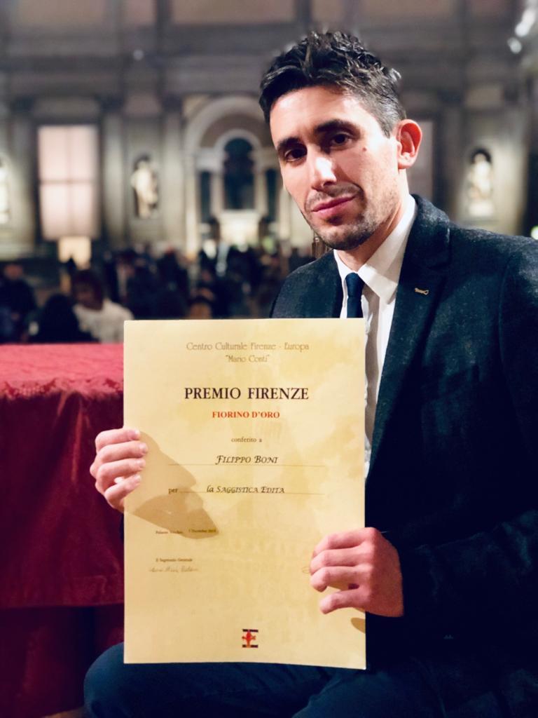 Filippo Boni vince la XXXVI° edizione del prestigioso Premio Internazionale  Firenze-Europa f195171e9a6