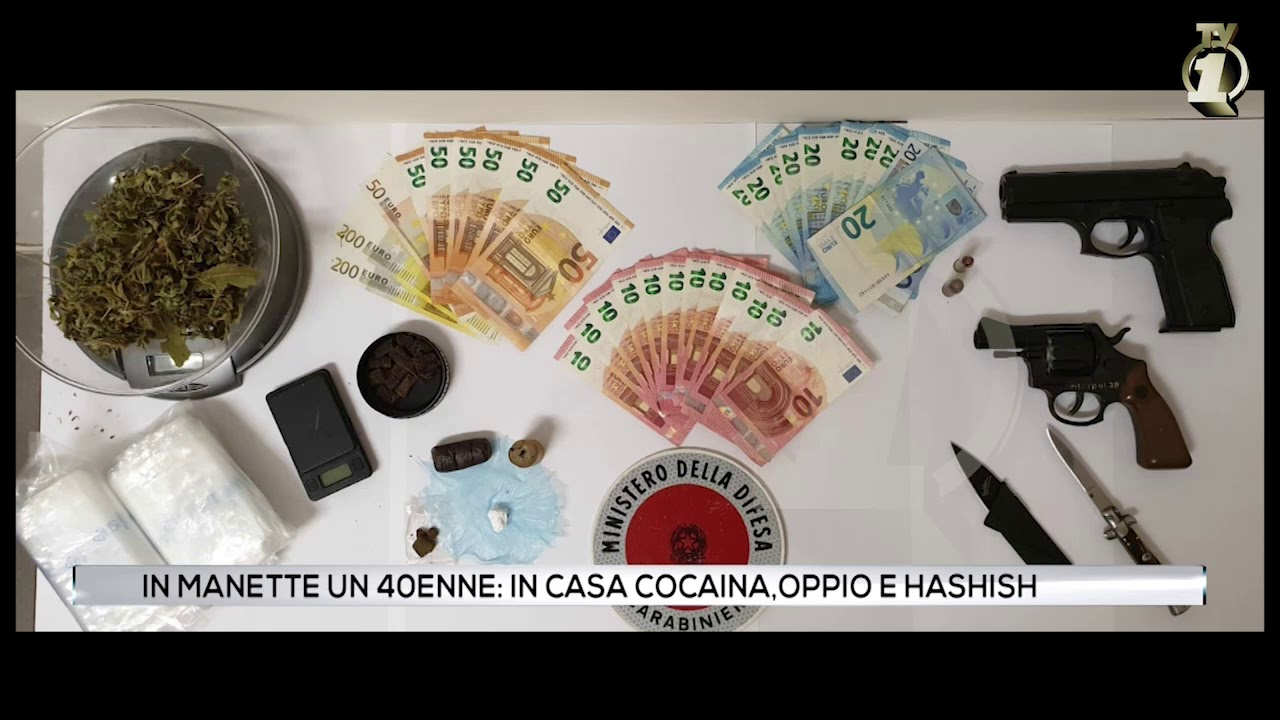 In manette un 40enne: in casa cocaina,oppio e hashish