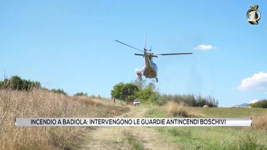 Incendio alla Badiola: sul posto Vigili del fuoco, Gaib e tre squadre della Regione con l'elicottero