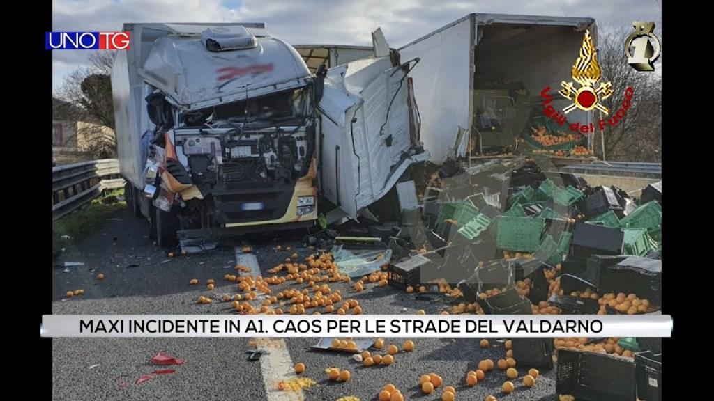 Maxi incidente in A1. Caos per le strade del Valdarno.