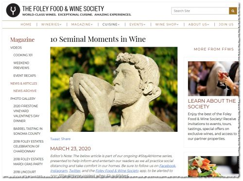 FFWS 10 Seminal Moments in Wine