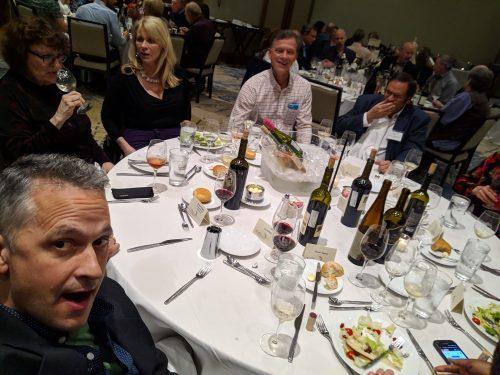 2018 Critics Challenge dinner