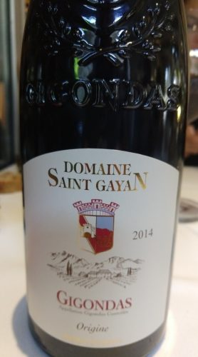 Saint Gayan Gigondas 2014