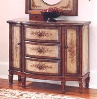 Burnt Wine Console Cabinet