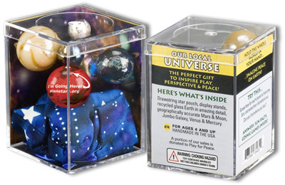 Cosmic Earth Marbles  Set of 5