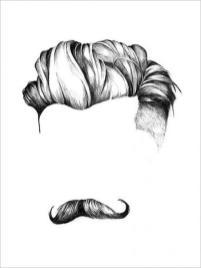 Skæg og hår print