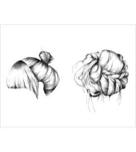 2 kvindeligt hår print