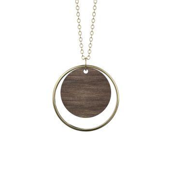 Halskæde - ADVERBIUM Dark wood + Gold