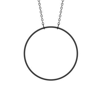 Halskæde, ring - VERBAL Black