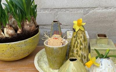 Nyt kunsthåndværk i nye spændende farver og former som ideer til påske