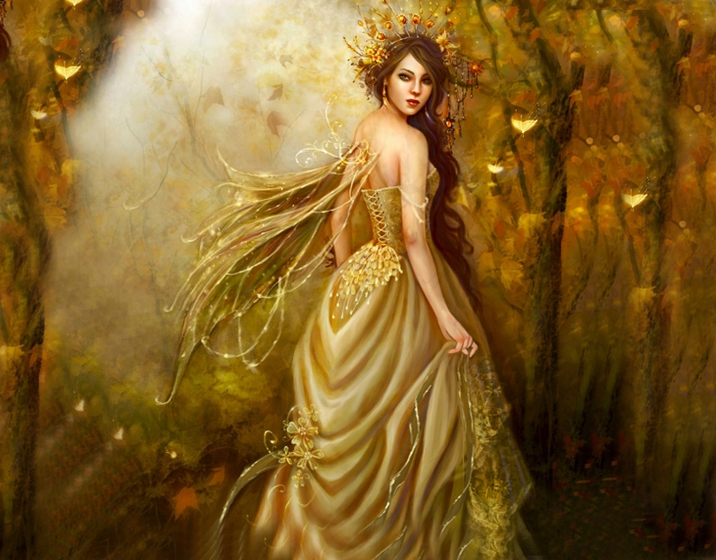Mythical Creatures In The Fall Wallpaper Photo Fairies Fantasy