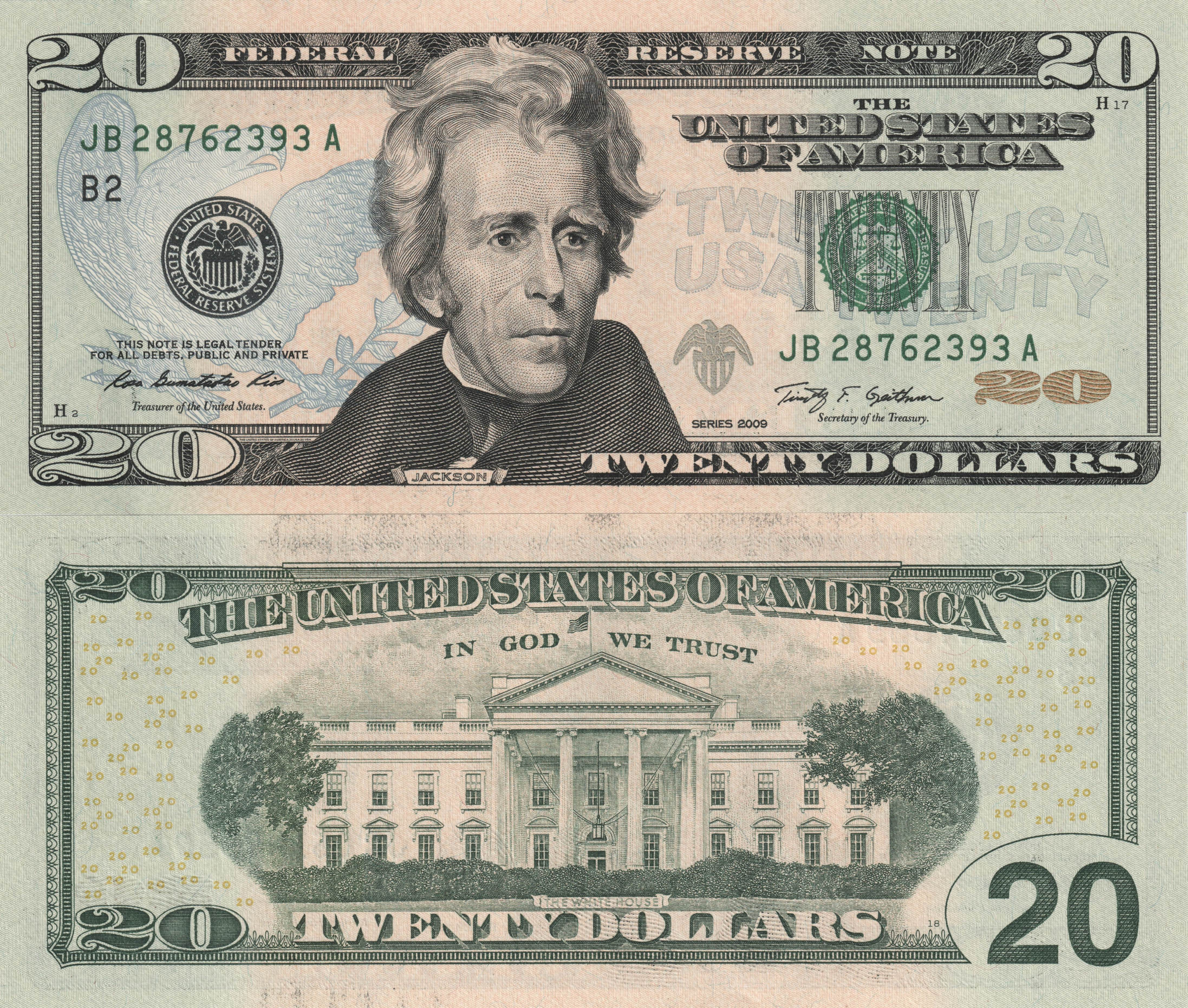 Picture Dollars Banknotes 20 Dollars Money X