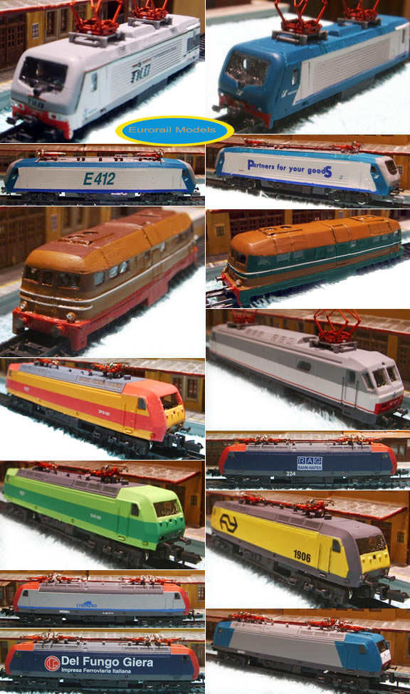 Parte della produzione di Eurorail models
