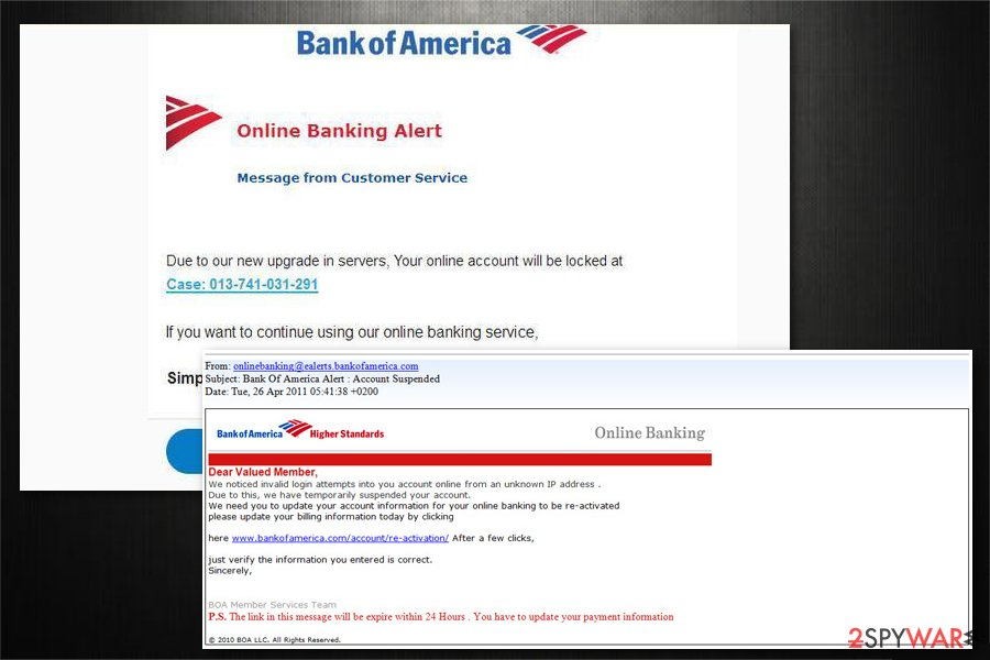 Remove Bank Of America Email Virus Removal Instructions Simple Removal Guide