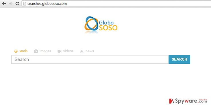 Remove Searches.globososo.com redirect