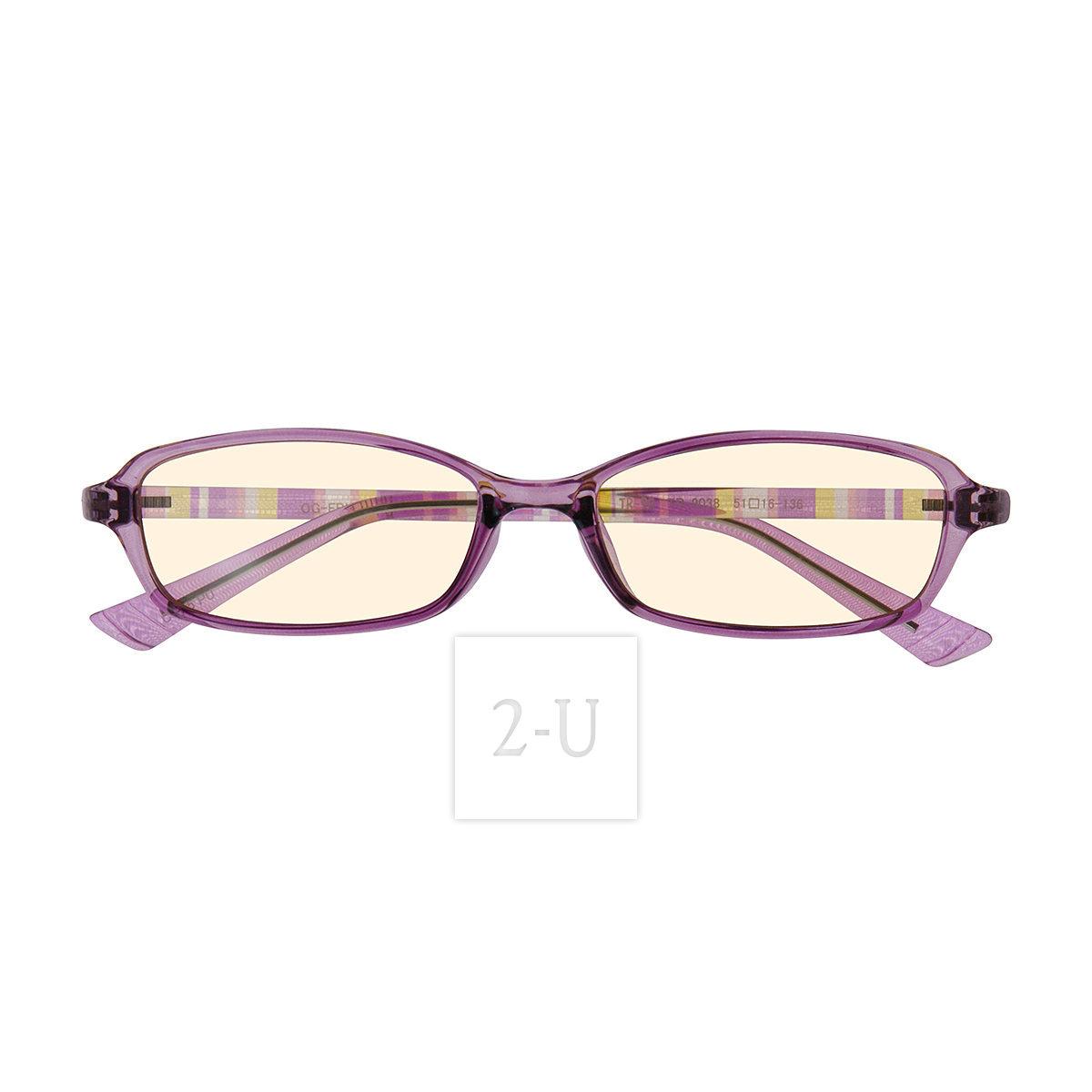 過濾藍光防紫外線 PC 專業電腦防護護眼眼鏡 紫色 [ 2-U ]