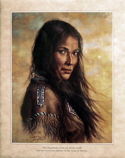 Leanin' Tree 16 X 20 Poster SKP541 Indian Maiden By Bill