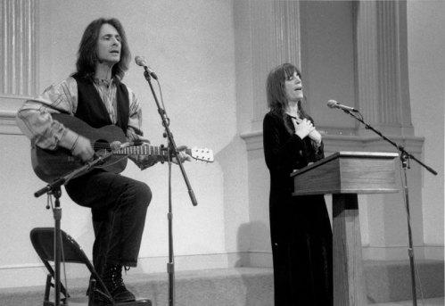 Lenny Kaye & Patti Smith - Photo Credit: Melissa Zexter, 1995