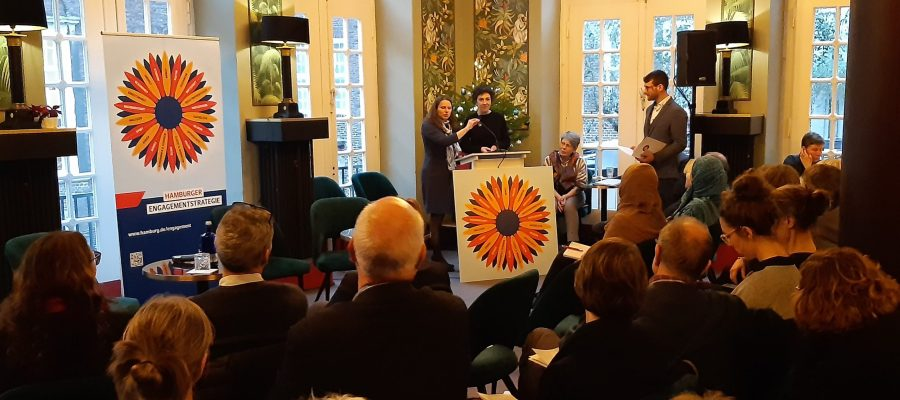 Sozialsenatorin im Haus des Engagements Hamburg