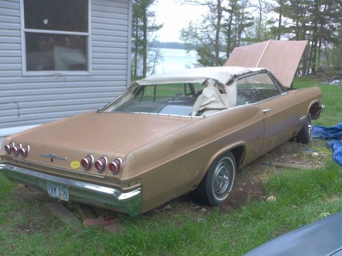 Sell Used 1965 Impala Super Sport Convertible Project Car