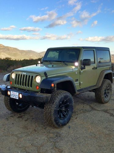 Find used 2013 Jeep Wrangler Sport 2Door Commando Green