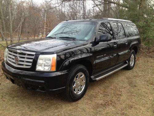 2004 Cadillac Escalade Esv Black