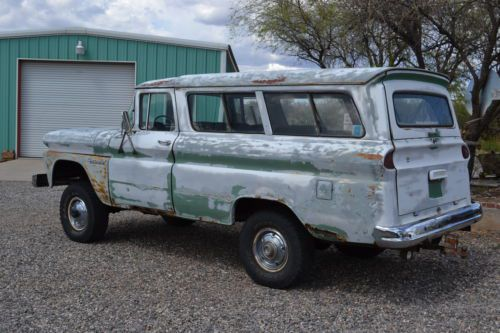 Buy used 4x4 Panel Suburban Wagon Classic C10 Arizona Vintage K10 4wd NO RESERVE in Camp Verde