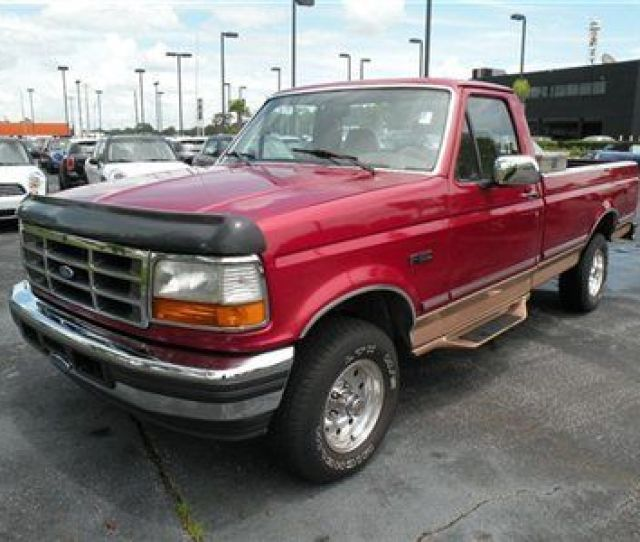 1995 Ford F 150 Lariat Red Beige Very Good Condition Runs Well