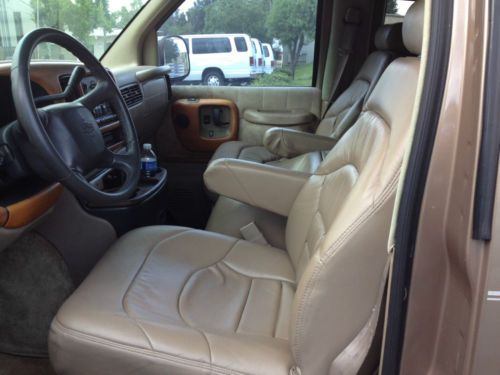 reclining chairs for sale refinish outdoor rocking chair buy used 2000 chevy express 1500 legend conversion van captain's dvd in tallahassee ...