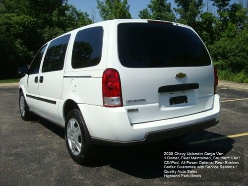 Purchase Used Chevy Uplander V6 Cargo Van 1 Owner All