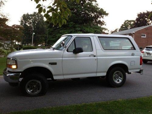 Buy used 1996 Ford Bronco XL Sport Utility 2Door 50L in