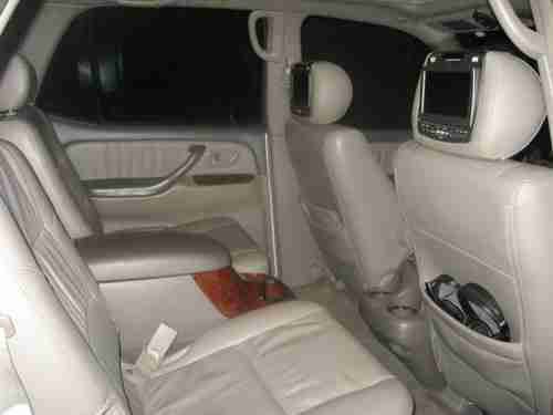 which suvs have captains chairs classic reading chair sell used 2007 toyota sequoia limited blizzard white tan leather wood trim in ...
