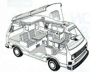 Find used 1984 Volkswagen Vanagon Campmobile Van Camper 3