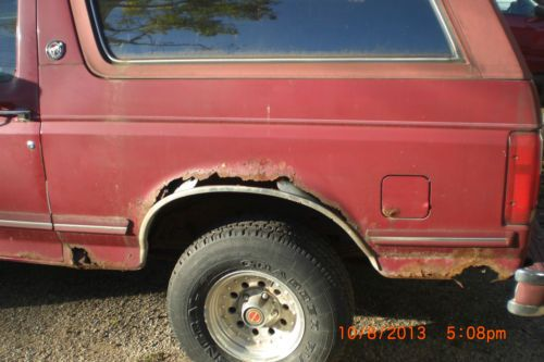 Sell used 1991 Ford Bronco 4x4 25th Silver Anniversary