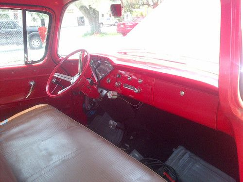 Buy Used 1955 Chevy Pickup Truck Wrap Around Window 55 Red