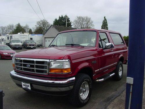 Find used 1995 Ford Bronco XL in Portland Oregon United