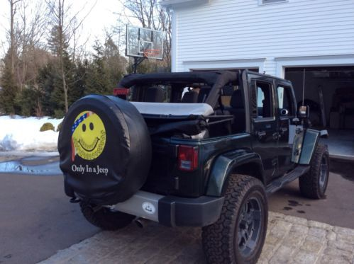 Find used 2012 GREEN Jeep Wrangler Unlimited Sahara Sport
