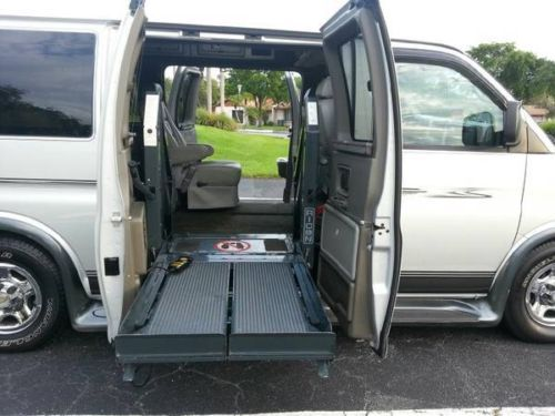leather 3 seat sofa bed recliner sale sell used 2004 chevrolet express wheelchair full size van ...
