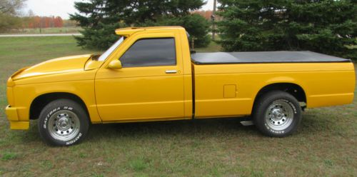 Buy used 1983 Chevy S10 Truck 350 Automatic Yellow Old