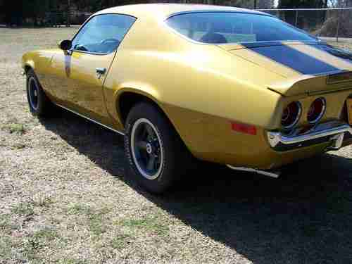 Sell New 1971 Camaro Z28 Rs 4 Speed Numbers Matching Drive Train Show Quality Placer Gold In