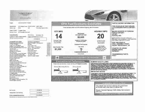 Sell used 2010 Aston Martin V8 Vantage 4.7L Sportshift