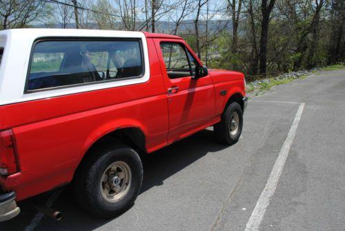 Buy used 1996 Ford Bronco XL 81k Original Miles in