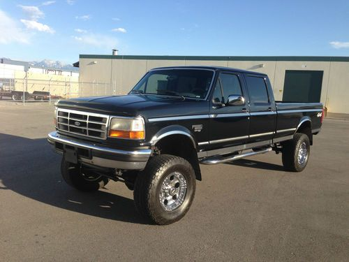 1997 Ford F350 Crew Cab Xlt Longbed 4x4 Lifted 73 Powerstroke Turbo