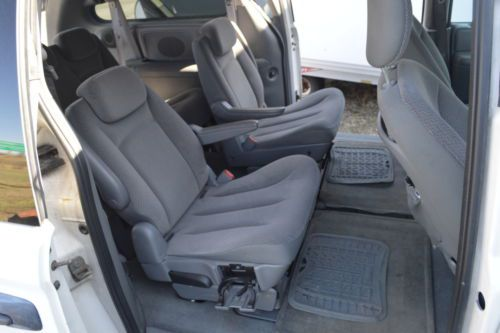 leather chair repair antique throne chairs for sale purchase used 2007 dodge grand caravan roof rack folding seats 7, ready work or fun in ...