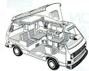 Purchase used Volkswagen Vanagon Westfalia 1985 NEW Engine