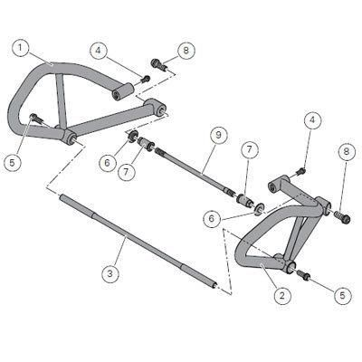 DUCATI MULTISTRADA 1200 CRASH BARS 96674210B for sale on