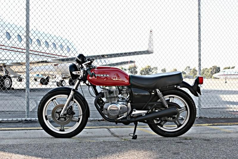 Honda Cb400t Cb400 Cafe Racer Black Widow Carbon On 2040 Motos