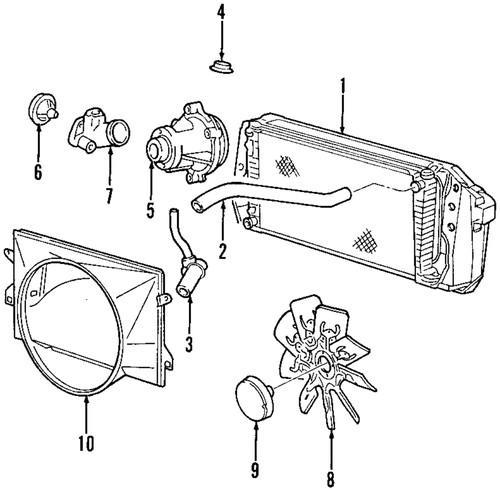 Buy FORD OEM XL1Z-8286-CA Lower Radiator Hose/Radiator