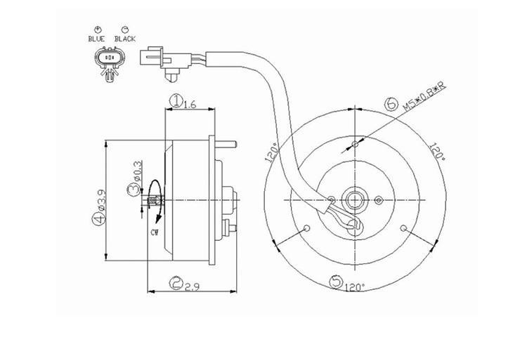 Sell AC Condenser Radiator Cooling Fan Motor 04-05 Dodge